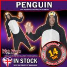 FANCY DRESS COSTUME # ADULT ALL IN ONE PENGUIN COSTUME MED